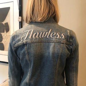 "Pistola raw edge jean jacket ""flawless"" size XS"